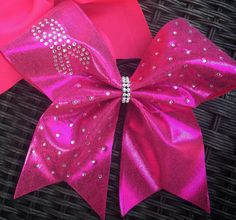 Breast Cancer Awareness  cheer Bow by Fancymakings81 on Etsy
