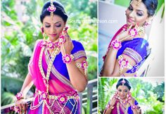 beautiful Indian brides. Floral jewellery
