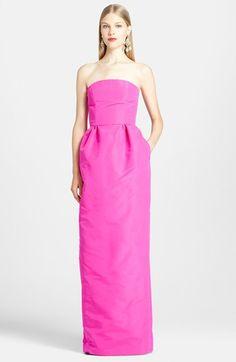Oscar de la Renta Silk Column Gown
