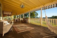 Just wow to this back verandah on an Australian country home. Coorabell, NSW