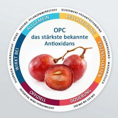 Allgemein:Das aus Traubenkernextrakt gewonnene OPC ist das wohl stärkste bekannte Antioxidans. Es verringert Gewebeschäden, stärkt die Blutgefäße, verbessert d