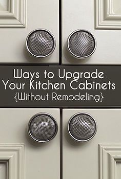 ways to upgrade your kitchen cabinets
