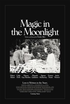 Magic in the Moonlight - Woody Allen Graphic Design Posters, Typography Design, Lettering, Cinema Posters, Film Posters, Editorial Layout, Editorial Design, Magic In The Moonlight, Film Movie