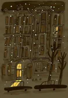 winter night illustration by Alisa Yufa Source by nadjagirod ideas drawing Art And Illustration, Mountain Illustration, Bd Art, Winter Night, Winter Snow, Winter Time, Pretty Pictures, Oeuvre D'art, Art Inspo