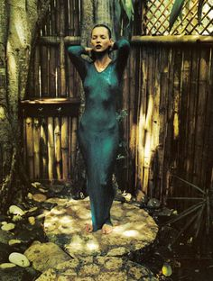 "labsinthe: Kate Moss as ""Island Girl"" shot by Mario Sorrenti for Harper's Bazaar 1997"