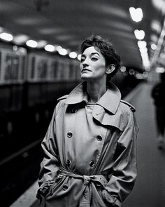 Loulou de la Falaise: The Real Deal Shot in a subway station by Peter Lindbergh.