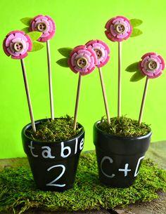 DIY flower pot favor