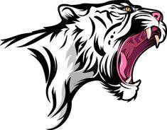 Illustration about Vector illustrated Tiger fierce with open mouth. Illustration of dangerous, open, design - 100303347 Tiger Art, Tiger Head, Soichiro Honda, All Animals Images, Tiger Vector, Animal Body Parts, Graffiti Wall Art, Tiger Logo, New Background Images