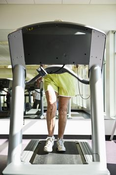 Seniors walking on the treadmill: holding on when on the treadmill is bad technique despite age. Let go to improve balance, posture, and walking ability.