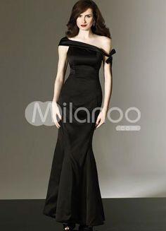 Off shoulder black wedding dress