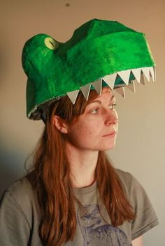 T-rex costume tutorial: Dinosaur mask