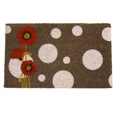 Rubber-Cal Rouge Contemporary Floral Doormat (18 x 30) | Overstock.com Shopping - Big Discounts on Rubber-Cal Door Mats