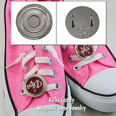 The newest way to market your sorority on campus - Navika Girl magnetic shoe charms! Great for sporting events and recruitment!