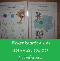 Reken tot het tiental - KlasvanjufLinda.nl - vol met leuke lesideeën en lesidee Primary Education, Kids Education, Learning Numbers, Fun Learning, School Info, Numeracy, Math Classroom, First Grade, Pre School