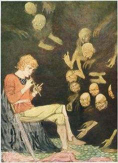 From a rare 1923 edition of Grimm's Fairy Tales illustrated by Gustaf Tenggren.