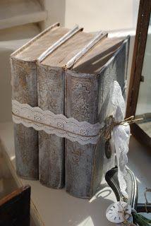 vintage shabby chic books