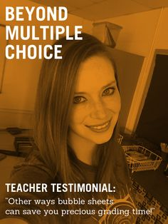 Teacher testimonial: You can do so much more than multiple choice with your GradeCam scan / bubble sheets.