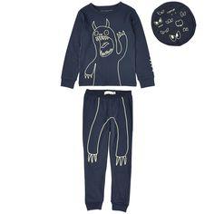 4e615f146 Stella McCartney Kids Two-piece shine in the dark cotton jersey pyjamas  Blue - 97054