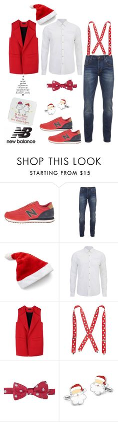 """Run the World in New Balance"" by dianefantasy ❤ liked on Polyvore featuring New Balance Classics, Scotch & Soda, Rad by Rad Hourani, Wembley, Saddlebred, Parsy Card Co, men's fashion, menswear, polyvorecommunity and NewBalance"