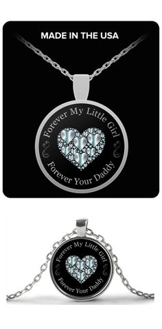 eaba971e Father Daughter Necklace and Pendant - Jewelry Gift (Silver-Plated) Father  Daughter Necklace