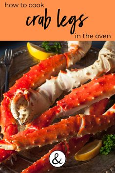 Cooking crab legs can be a challenge and if you don't do it right, you can definitely ruin them. Here is how to cook crab legs in the oven whether they are fresh or frozen. Steamed King Crab Legs Recipe, Snow Crab Legs Recipe Boiled, Crab Leg Recipes Boiled, Bake Crab Legs Recipe, King Crab Recipe, Steamed Crab Legs, Baked Crab Legs, Crab Bake, Crab Recipes