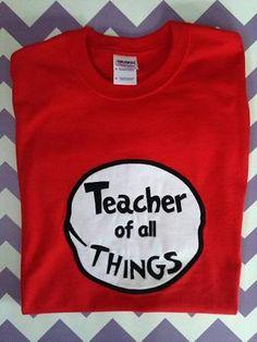 dr. seuss teacher shirt - Google Search