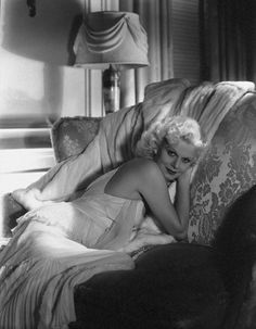 "bettesdavis: "" Jean Harlow posing in the doorway of her private dressing room on the set of Personal Property, 1937 """