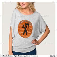 Leukemia Cancer Fight Strong Motto Collage Tee Shirts by www.giftsforawareness.com #leukemiaawareness #leukemia #cancersurvivor
