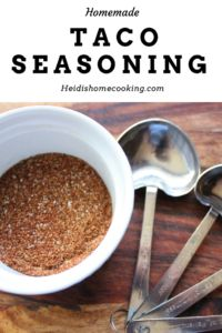 Homemade taco seasoning is so simple and easy to make! All you need is 8 spices that you probably already have in your cupboard. This seasoning tastes so much better than any seasoning packet from the store and has way less salt and preservatives. I usually double the recipe so that I always have some on hand. I use this seasoning in taco meat, enchiladas, fajitas, and even chili. Try it today!