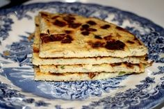 Farinata or Socca (similar to a crepe but a little crispier. It's traditionally made by combining garbanzo bean flour, water, olive oil, and spices.)  MyNaturalFamily.com  #grainfree #glutenfree #recipe #garbanzobeans