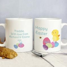 Personalised Easter Meadow Chick Mug - The Hut Market - Personalised Gift Shop