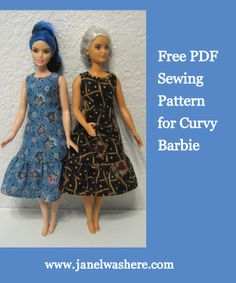 Free sewing pattern for Curvy Barbie