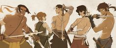 """""""And finally this #samuraiau is finished :3 #VoltronLegendaryDefender #voltronau #shiro #pidge #keith #lance #hunk"""""""