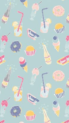 Emily Kiddy: Print and Pattern Cute Wallpaper Backgrounds, Wallpaper Iphone Cute, Computer Wallpaper, Screen Wallpaper, Cute Wallpapers, Food Wallpaper, Kawaii Wallpaper, Pastel Wallpaper, Flower Wallpaper
