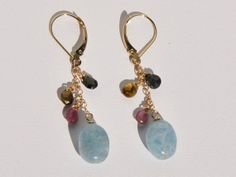 20 off SALE  Aquamarine and Multicolor by BlueBreezeJewelry, $89.99