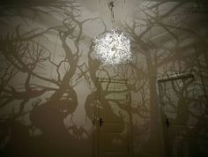 forest tree chandelier