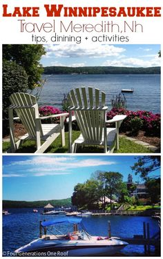 Travel Lake Winnipesaukee, Mill Falls, Meredith Nh. Follow a family of four generations on their summer vacation. Things to do and places to see. @Mandy Dewey Generations One Roof