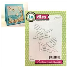 Beach Chairs thin metal cutting die Impression Obsession dies DIE177-K for handmade cards scrapbook pages - Cuttlebug & nearly all machines by InspirationStationMI on Etsy