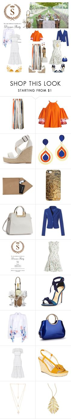 """Dinner Party, Anyone?"" by missamandapmoss ❤ liked on Polyvore featuring Sonia Rykiel, Peter Pilotto, Charlotte Russe, Toolally, STOW, Giambattista Valli, Artland, Alexandre Birman, self-portrait and Anne Klein"