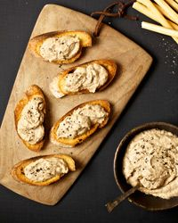 Italian Tuna Mousse Recipe; I would spread on veggies of course but this sounds tasty!