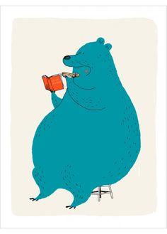 La vie sauvage by Dominique Le Bagousse for L'Affiche Moderne Bear Character, Character Design, Art D'ours, Art Et Illustration, Dominique, Bear Art, Kids Prints, Cool Pets, Concept Art