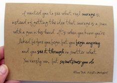 Atticus Finch: Courage