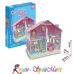 Puzzles & Geduldspiele Badezimmermöbel 3D Holzbausatz Puppenhaus Holz Steckpuzzle Holzpuzzle Kinder Bau