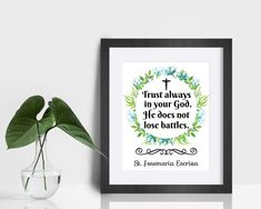St. Josemaria Escriva Quote Print Trust always in your God | Etsy Trust, Saints, Saint Quotes, Color Calibration, Quotes About God, Keep In Mind, Quote Prints, Printing Process, Card Stock