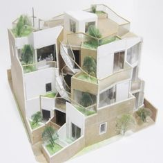 a f a s i a: Akihisa Hirata Japanese Buildings, Japanese Architecture, Concept Architecture, Sustainable Architecture, Amazing Architecture, Modern Architecture, Building Exterior, Design Model, Beautiful Homes
