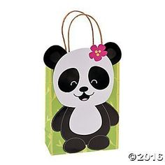 This listing is for 12 Sweet Panda Party favor bags All these Panda Party Kraft Gift Bags are missing now are your party favors. A must-have addition to your panda-themed birthday party supplies, these paper gift bags have a cute little panda pasted right on the front. Fill