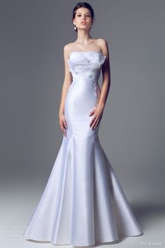 blumarine 2014 sposa strapless mermaid fit flare crumb catcher wedding dress. Just beautiful!