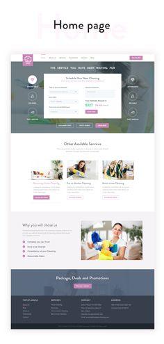 Tidyup angels website redesign