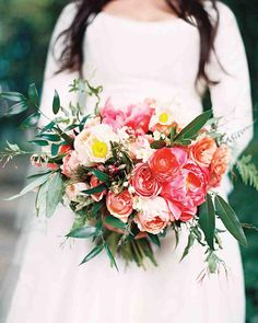 Ramo peonias para novia