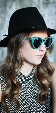 Teal Wood Sunglasses #womensfashion #sunglasses #style